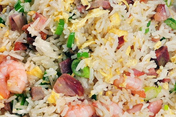 Shrimp and BBQ Pork Fried Rice